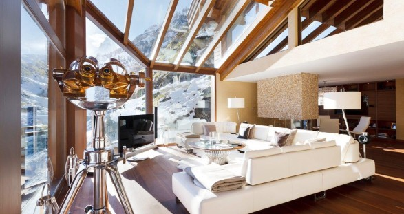 VIP escort service Zermatt in a luxury chalet