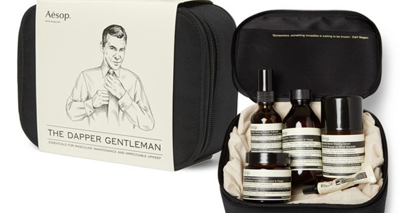 The Aesop grooming kit by Mr Porter is a great way to freshen up for your VIP escort date.