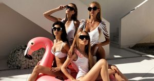 Party escort girls at the Ushuaia Ibiza