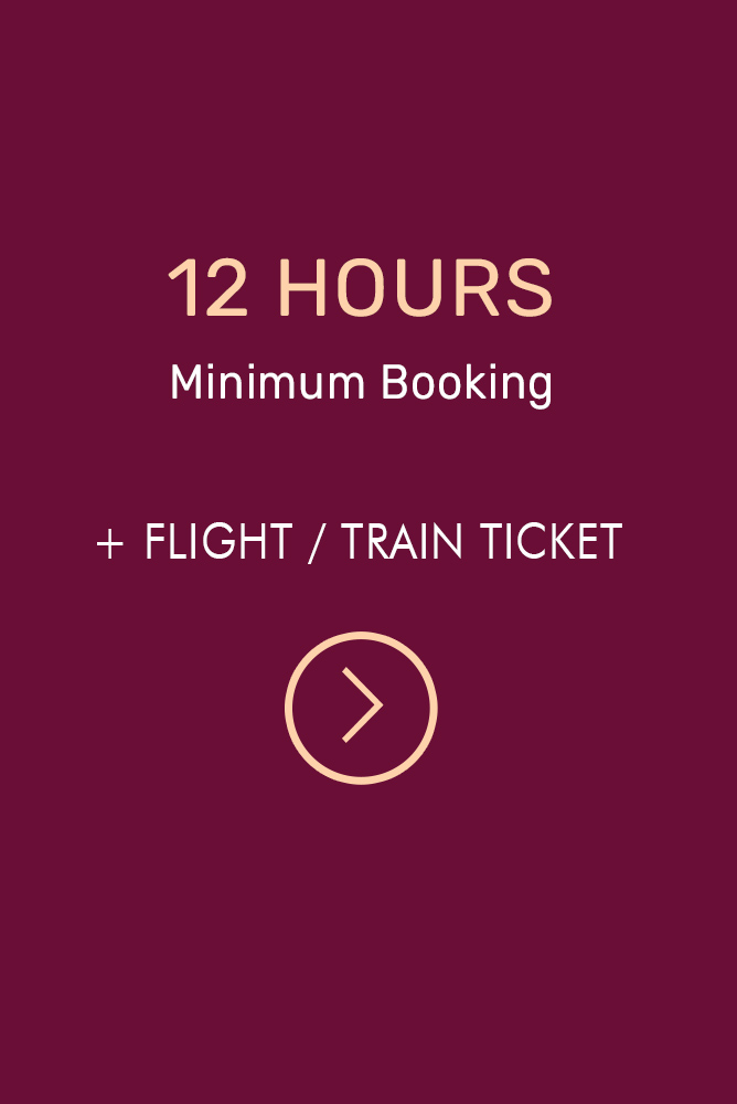 Minimum 12 Hour Booking