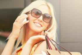 Blond Escort shopping in Munich