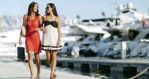 Two escort ladies at the Marina of Dubrovnik
