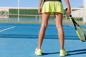 Part-time escort plays tennis