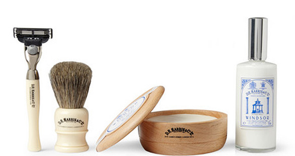 The exclusive shaving kit by DR Harris and our elite escort service - only for men with style.